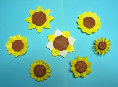 簡単 折り紙 折り紙 ひまわり 作り方 : sakai-comcom.net